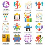 People team logo vector abstract group set teamwork union business Vector Illustration