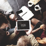 People Team Working Together Ideas Tablet Concept Stock Photography