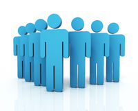 People Teamwork concept. 3d render People Teamwork concept (close-up Stock Photo