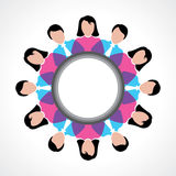 People teamwork concept with message bubble Royalty Free Stock Photography