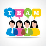 People teamwork concept with message bubble Royalty Free Stock Photos