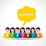 People teamwork concept with message bubble Stock Photo