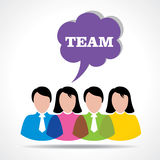 People teamwork concept with message bubble Stock Images