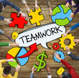 People with Teamwork Concept Photo Illustration Stock Photo