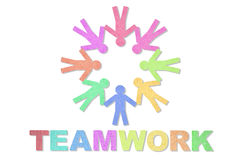 People and teamwork word Stock Photos