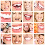 People teeth collage. royalty free stock image