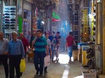 People Tehran Grand Bazaar. Iran royalty free stock photo