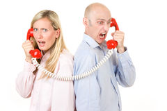 People on telephone Royalty Free Stock Photos