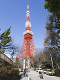 People at the television tower in Tokyo Stock Photo