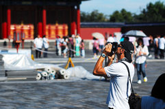 People in the Temple of Heaven photo Stock Image