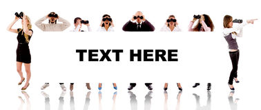 People - Text Here Sign Stock Image