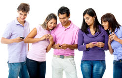 People texting on their phone Stock Photography