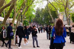 People at the 58th International Art exhibition of Venice biennale royalty free stock photos