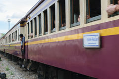 People on the Thai train Royalty Free Stock Image