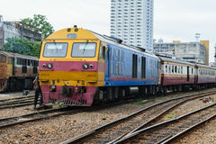 People on the Thai train Royalty Free Stock Photo