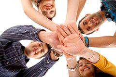 People with their hands together Royalty Free Stock Photography