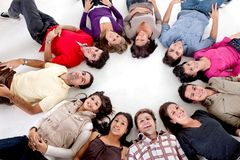 People with their heads together Royalty Free Stock Photo