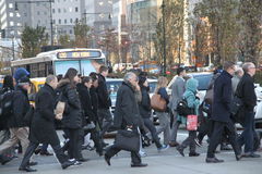 People on their way to work, world trade center Stock Photography