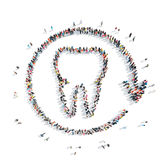 People in theshape of a tooth, dentistry. Royalty Free Stock Photos