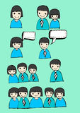 People think and dialog speech bubbles Stock Images