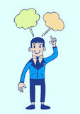 People think and dialog speech bubbles Stock Image