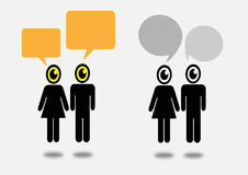 People think and dialog speech bubbles Royalty Free Stock Photography