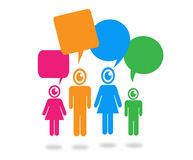 People think and dialog speech bubbles Stock Photography