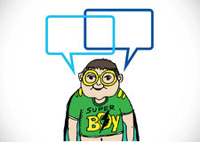 People thinking and peoples talking with dialog speech bubbles Royalty Free Stock Images