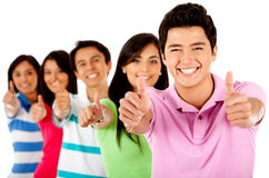People with thumbs up Royalty Free Stock Images