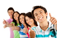 People with thumbs up Royalty Free Stock Photography