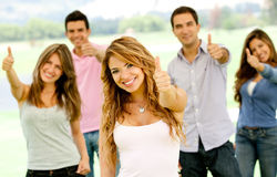 People with thumbs up Royalty Free Stock Photo