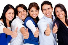 People with thumbs up Royalty Free Stock Image