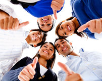 People with thumbs up Stock Photo