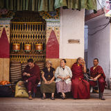 People of Tibet colony in Delhi Stock Image