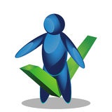 People tick icon. illustration in vector format royalty free illustration