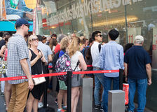 People at The TKTS booth on Times Square  buying tickets to Broa Royalty Free Stock Images