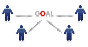 People to goal illustration design Stock Image