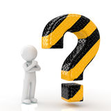 People to think and question mark Stock Photo