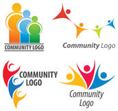 People Together Logo. A simple joining of people together community logo set Royalty Free Stock Images