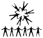 People together silhouette  Stock Images