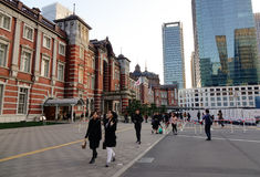 People in Tokyo station, Japan Royalty Free Stock Images
