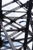 People at the top of the Harbour Bridge in Sydney, Australia. A group of people at the top of the Harbour Bridge in Sydney, Australia Stock Images