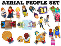 People from top view Stock Photography