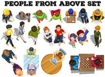People from the top view Stock Image