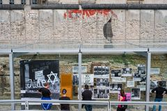 People at the Topography of Terror German: Topographie des Terr. Berlin, Germany - may, 2018: People at the Topography of Terror German: Topographie des Terrors royalty free stock photos