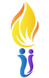 People torch. A vector drawing represents people torch design Stock Photography