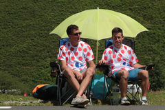 People on Tour de France Royalty Free Stock Photo