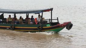 People at the Tourist boat, Mekong Delta, Vietnam stock video footage