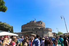 Tourism at Rome Italy royalty free stock photos