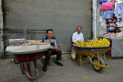 People trades fruits in a market, Iran Royalty Free Stock Photos